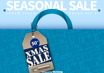 Seasonal sale advertising - vector gratuit #281053