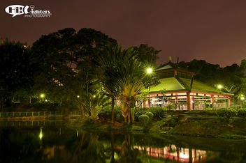 Night Scenry Of Pavilion in the Garden - Kostenloses image #286343