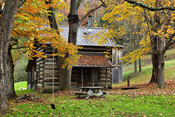Fall Country Cabin - image gratuit #290003