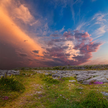 Poulnabrone Sunset Scenery - бесплатный image #290293