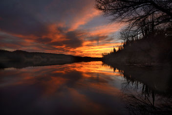 Orange sunset on Salt River, Mesa, AZ - image gratuit #291023