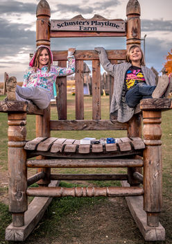 The Schuster's Playtime Chair and my Daughters - Free image #294433