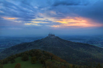 Hohenzollern castle, Germany, at sunset - бесплатный image #294833