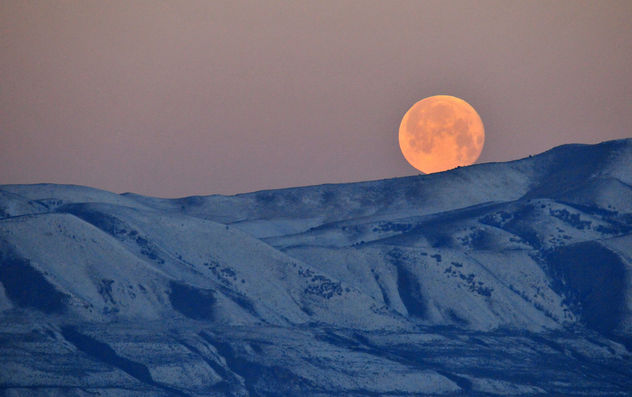 Moon Setting at Bear River Migratory Bird Refuge - бесплатный image #296583