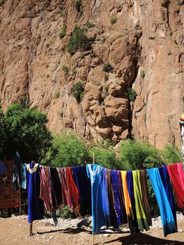 Morocco-Shopping at Todra Canyon - Free image #296673