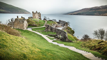 Urquhart Castle, Loch Ness, Inverness, Scotland, United Kingdom - travel photography - бесплатный image #297343