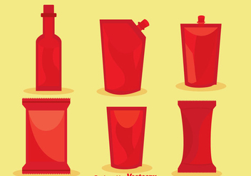 Vector Hot Sauce Packages - Kostenloses vector #297613