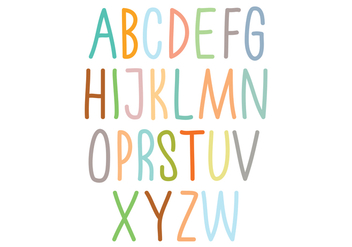Colorful alphabet typography - Free vector #297633