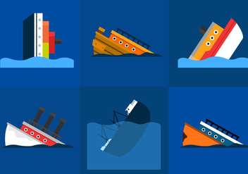 Sunken Ship - vector gratuit #297653