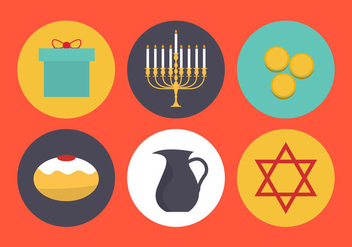 Vector Symbols of Hanukkah - vector #297703 gratis