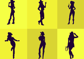 Cowgirl Silhouette - Free vector #297733