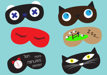 Set of Sleep Masks in Vector - бесплатный vector #297833