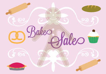 Bake Sale Poster in Vector - Free vector #297863