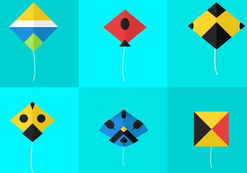 Basant Kite Vectors - бесплатный vector #297893