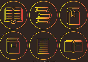 Read Outline Circle Icons - vector gratuit #297923