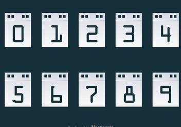 Number Counter Calendar Display - vector gratuit #297933