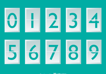 White Number Counter On Turquoise - vector gratuit #297943