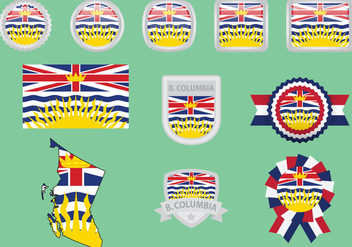 British Columbia Flags - Kostenloses vector #297963