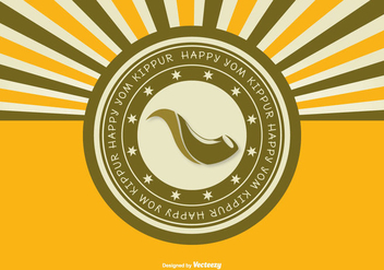 Yom Kippur Retro Greeting Illustration - Kostenloses vector #297973