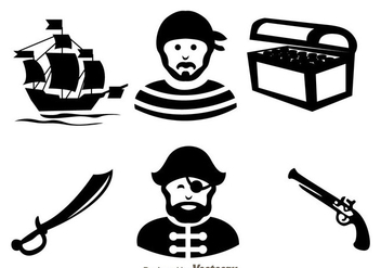 Treasure Hunter Black Icons - Free vector #297983