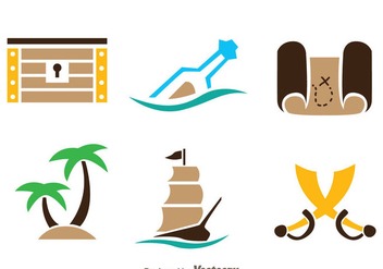 Treasure Hunter Icons - бесплатный vector #297993