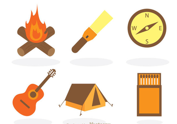 Camping Vector Items - vector #298003 gratis