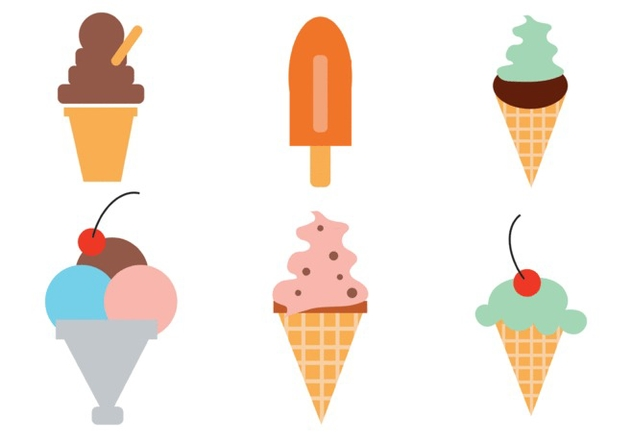 Ice Cream Vector Set - Kostenloses vector #298023