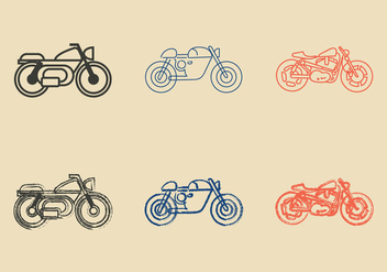 Free Cafe Racer Vector Illustration - vector gratuit #298043