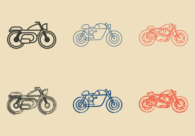 Gratis Cafe Racer-Vektor-Illustration - Kostenloses vector #298043
