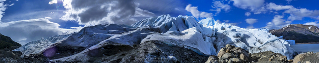 Panoramic from a Patagonian glacier - бесплатный image #298763