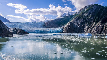 Sawyer Glacier - Tracy Arm Fjord Glacier (Closer) - image #299253 gratis