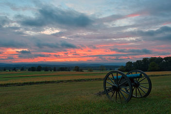 Gettysburg Cannon Sunset - HDR - Free image #301213