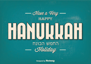 Happy Hanukkah Typographic Illustration - vector gratuit #301503