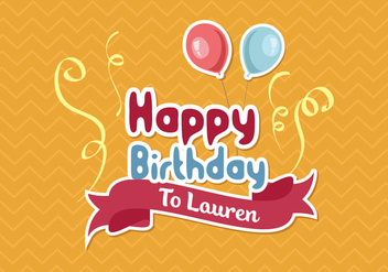 Happy Birthday Background Vector - vector #301513 gratis