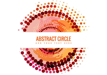 Abstract Halftone Circle Banner Vector - Free vector #301523