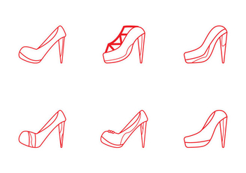 Free Ruby Shoes Icon Set - vector gratuit #301773