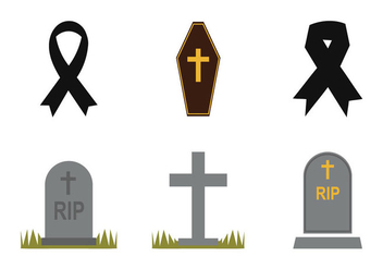 Free Mourning Vector Icon Set - Free vector #301783