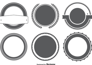 Blank Badge / Labels Shape Set - vector gratuit #301793