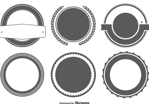 Blank Badge / Labels Shape Set - Free vector #301793