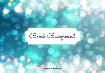 Beautiful Abstract Bokeh Background - vector gratuit #301813