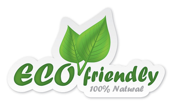 Eco Friendly Sticker Design - vector gratuit #301893