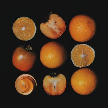 Persimmons and Orange slices - Free image #301963