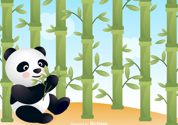 Free Panda With Bamboo Vector Background - Free vector #302123