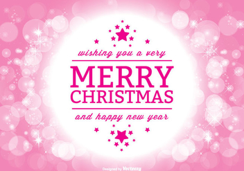 Beautiful Christmas Greeting Illustration - vector gratuit #302153