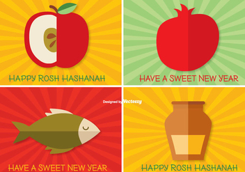 Rosh Hashanah Label Set - бесплатный vector #302163
