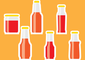 Bottle sauce sticker - vector #302203 gratis