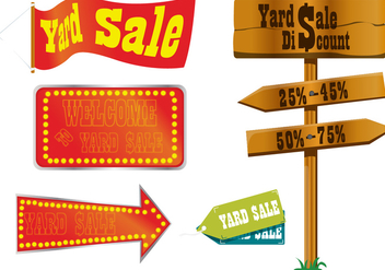 Yard Sale Sign Vectors - vector gratuit #302253