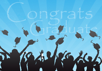 Congrats Graduate Vector Background - vector gratuit #302263