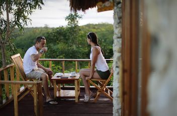 Couple having breakfast with coffee - image #302303 gratis