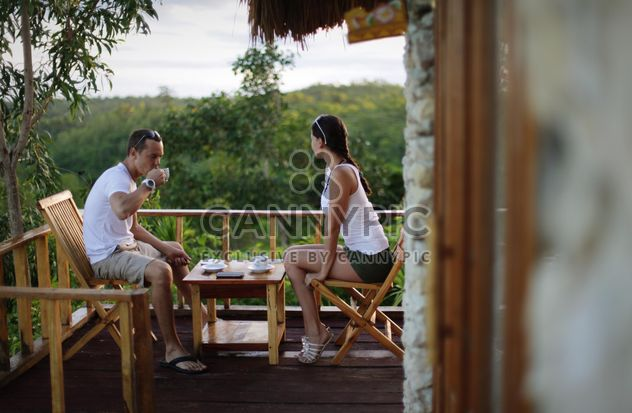Couple having breakfast with coffee - image gratuit #302303
